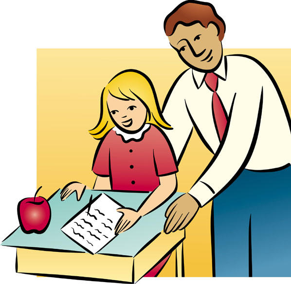 svg royalty free library Teachers and students clipart. Free teacher student cliparts
