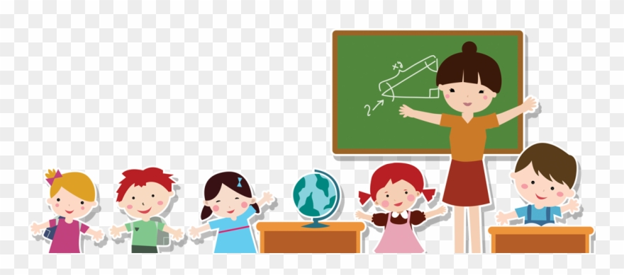 png royalty free Teacher student cartoon png. Teachers and students clipart