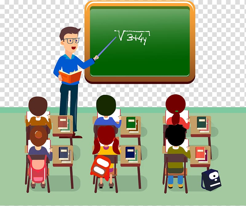 clipart royalty free library Man mathematic illustration student. Teacher teaching students clipart