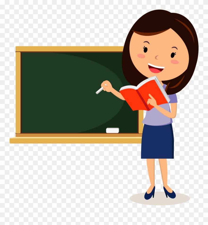 vector royalty free Teaching clipart. Teacher png cartoon pinclipart.