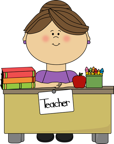 png free Teacher Sitting at a Desk
