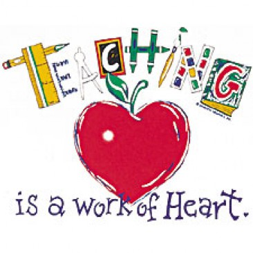banner library library Teaching is a work of heart clipart. Clip art library .