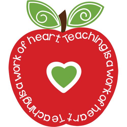 png transparent download Teaching is a work of heart clipart. Clip art teacher arts.