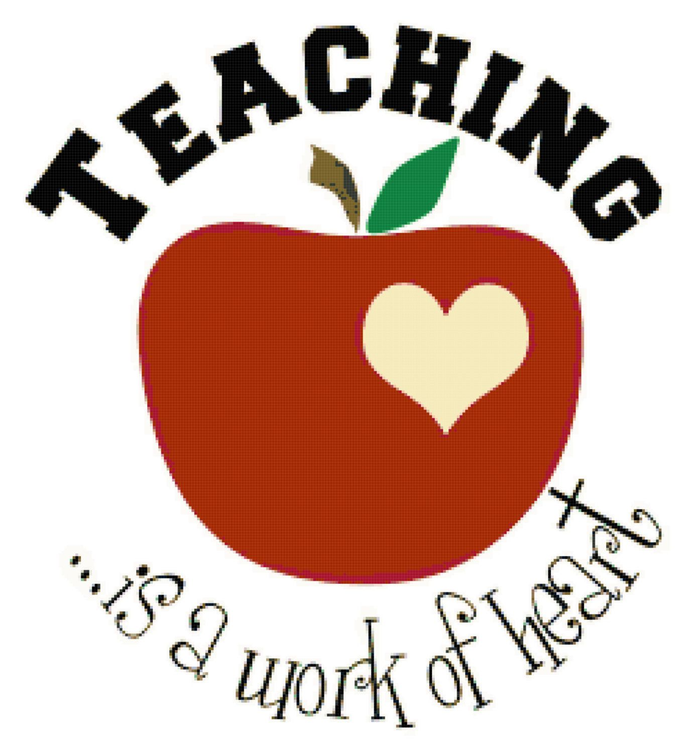svg library stock Teacher s gift counted. Teaching is a work of heart clipart.