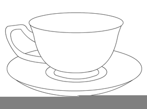 vector Free images at clker. Teacup and saucer clipart