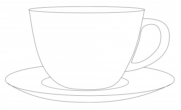 svg library download Free cliparts download clip. Teacup and saucer clipart