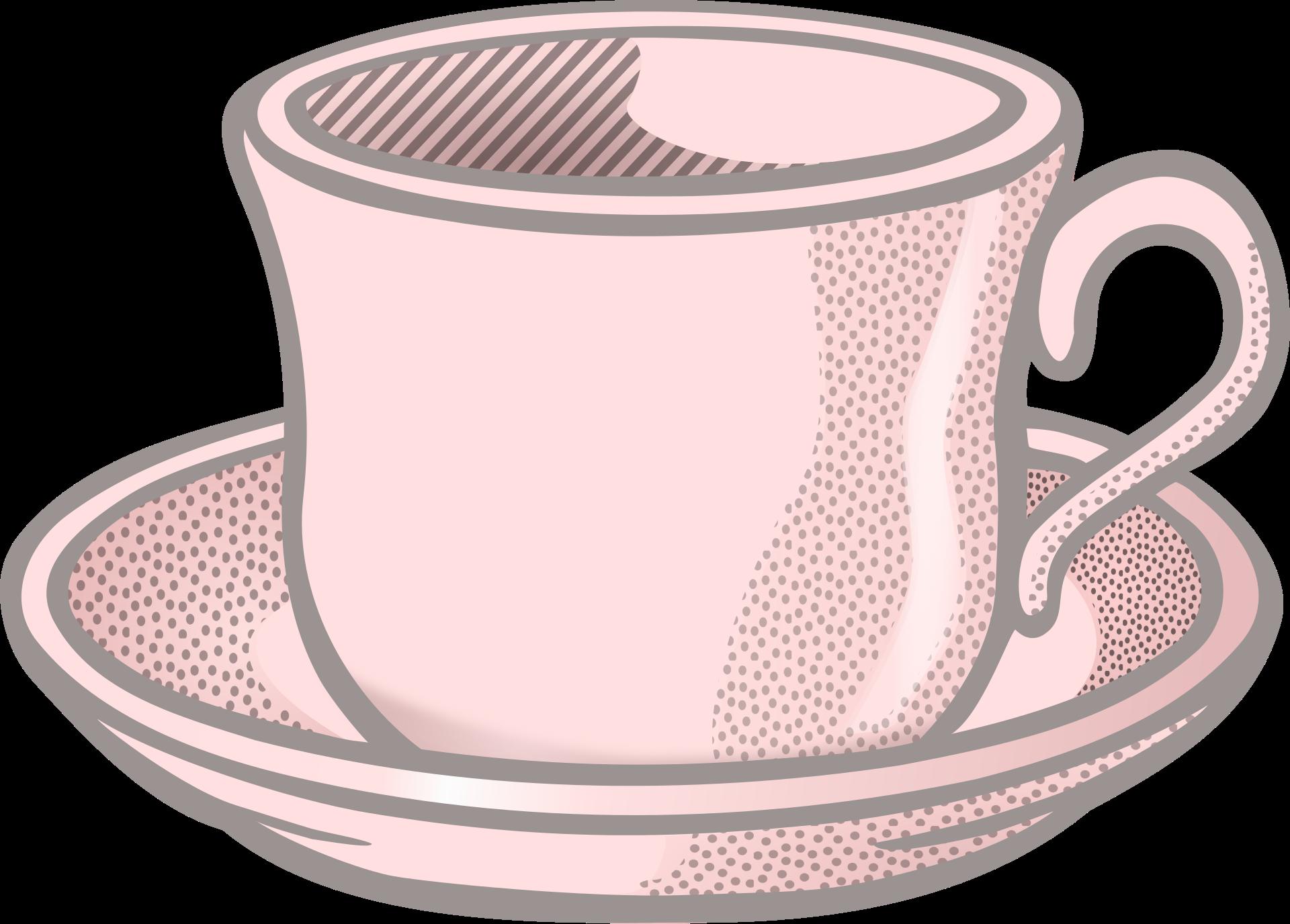 picture transparent Teacup and saucer clipart. Clip art pink tea