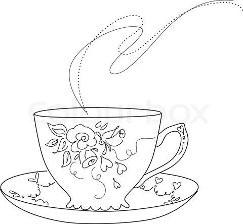 jpg free Free sketch of fancy. Teacup and saucer clipart