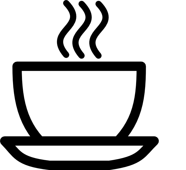 clip art transparent Teacup black and white. Cups clipart anthropomorphic.