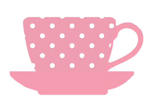 graphic freeuse download tea cup pink white dots