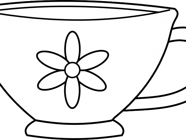 svg library library Drawn tea cup free. Wonderland clipart teacup