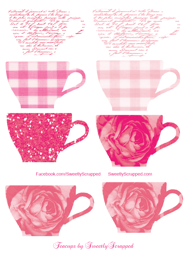 clipart stock Teacup clipart free. Sweetly scrapped teacups and