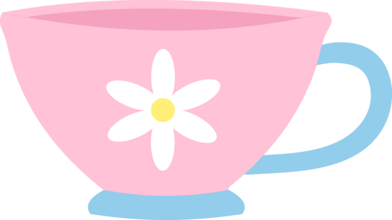 svg stock Cute pink with daisy. Teacup clipart free