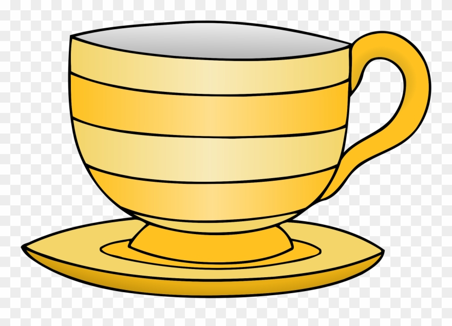 clip art royalty free Crockery yellow tea cup. Teacup clipart images