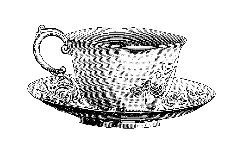 clipart black and white download Teacupsaucer png clip art. Wonderland clipart stacked teacup