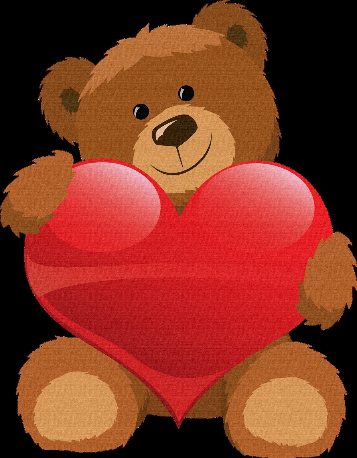 vector free download Oso con corazon para. Teddy clipart preschool