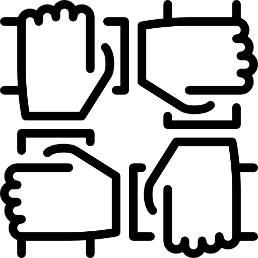 clip black and white Arms icon . Teamwork clipart black and white