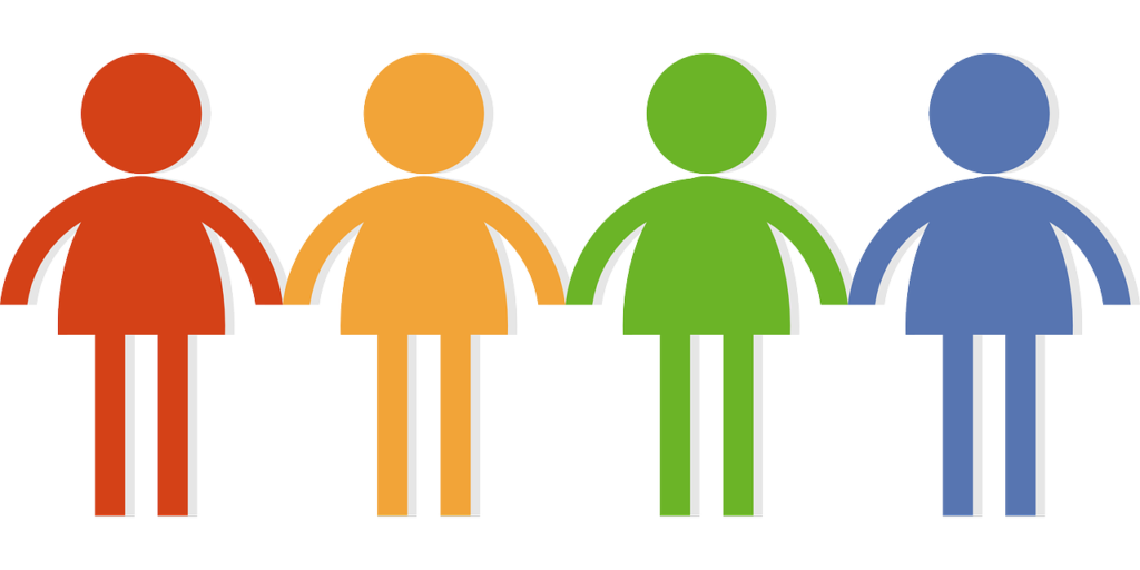 stock Personality types you need. Teamwork clipart four person