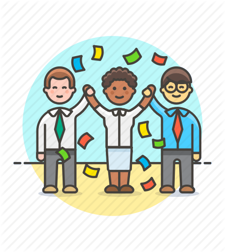 banner royalty free download Teamwork Clipart celebration