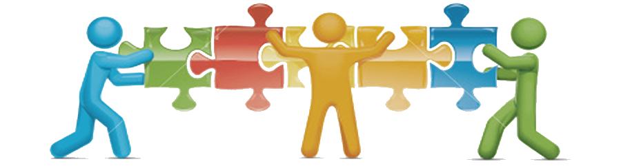 png transparent stock Teamwork clipart production team. Stock illustration jigsaw engosoft