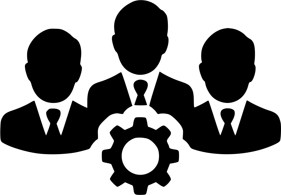 clipart black and white download People users gear group. Teamwork clipart production team