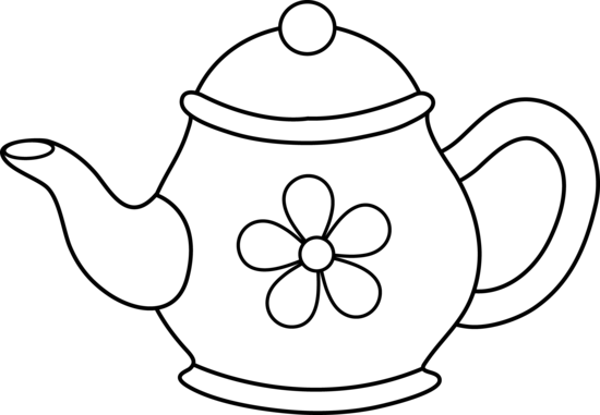 jpg black and white Black white . Teapot clipart