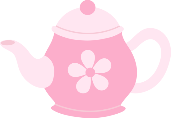 clip transparent download Teapot clipart lady. Pink with daisy free