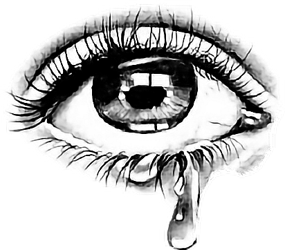 image freeuse Blindfold drawing closed eye. Tear sticker by taliafera