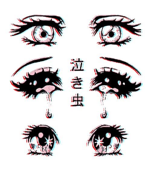 svg freeuse library Drawing reflections creepy. Scary cute eyes anime