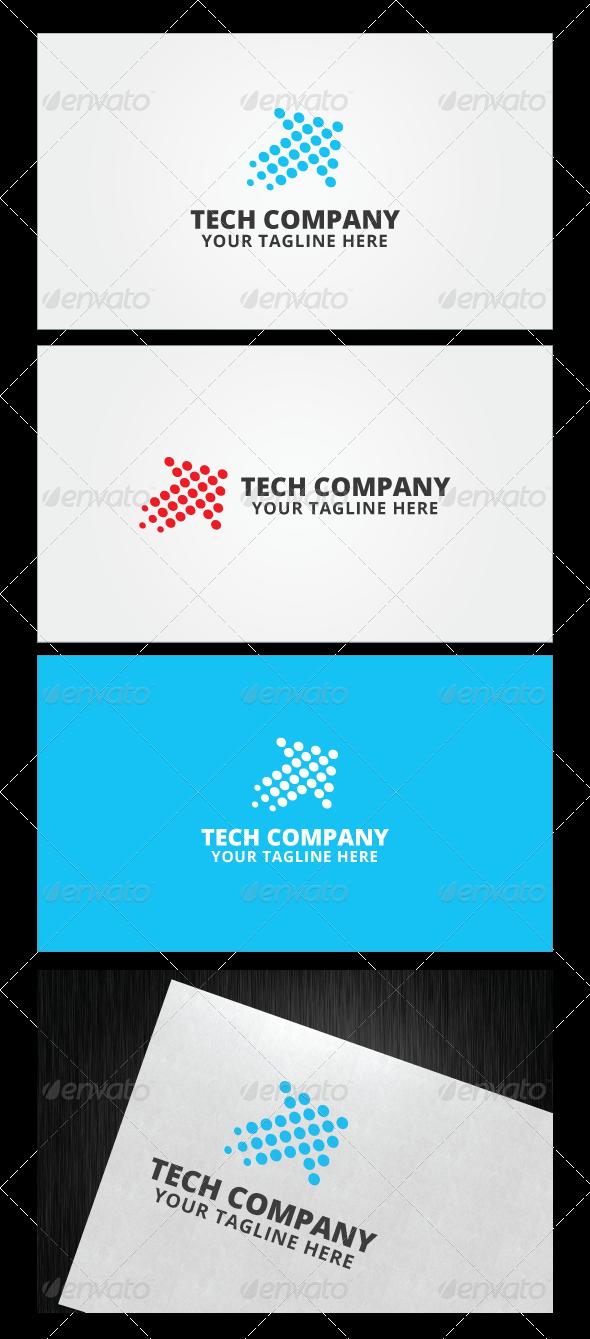 image royalty free Company logo template templates. Tech vector banner