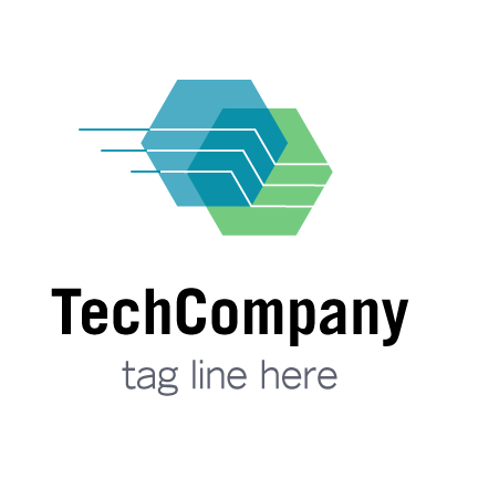 black and white stock Technology Company Logo Design