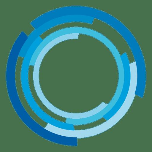clip High tech rings logo. Vector blue transparent