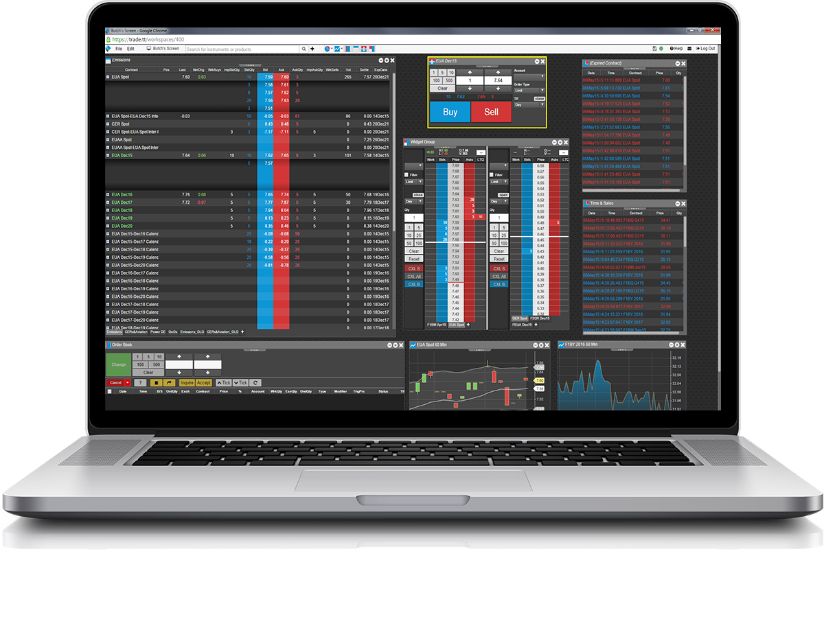 graphic Trading Screen