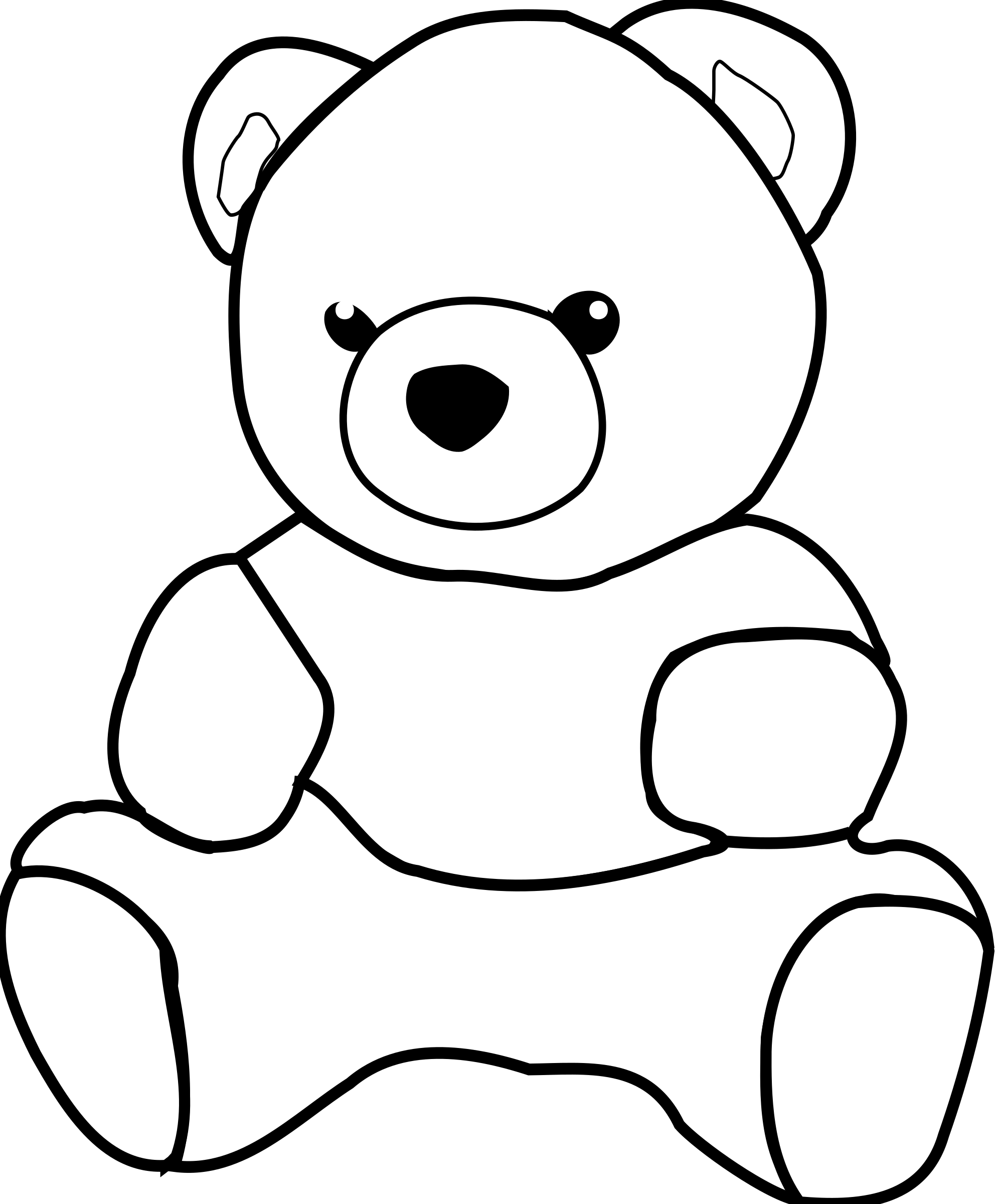 image freeuse download Teddy bear black and white clipart. Big image png