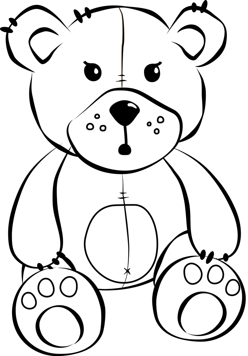 clip royalty free stock Cartoon images reviewwalls co. Teddy bear black and white clipart