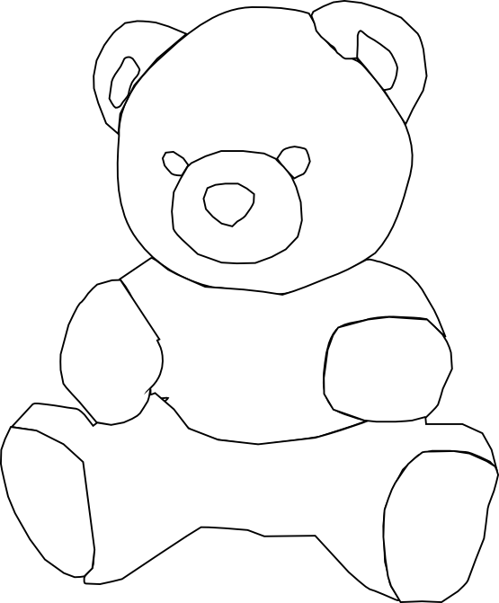clip royalty free Teddy bear clipart black and white. Clipartist net clip art