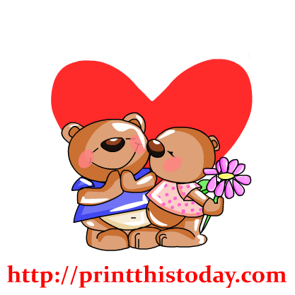 black and white Teddy bear clipart images. Love heart pencil and