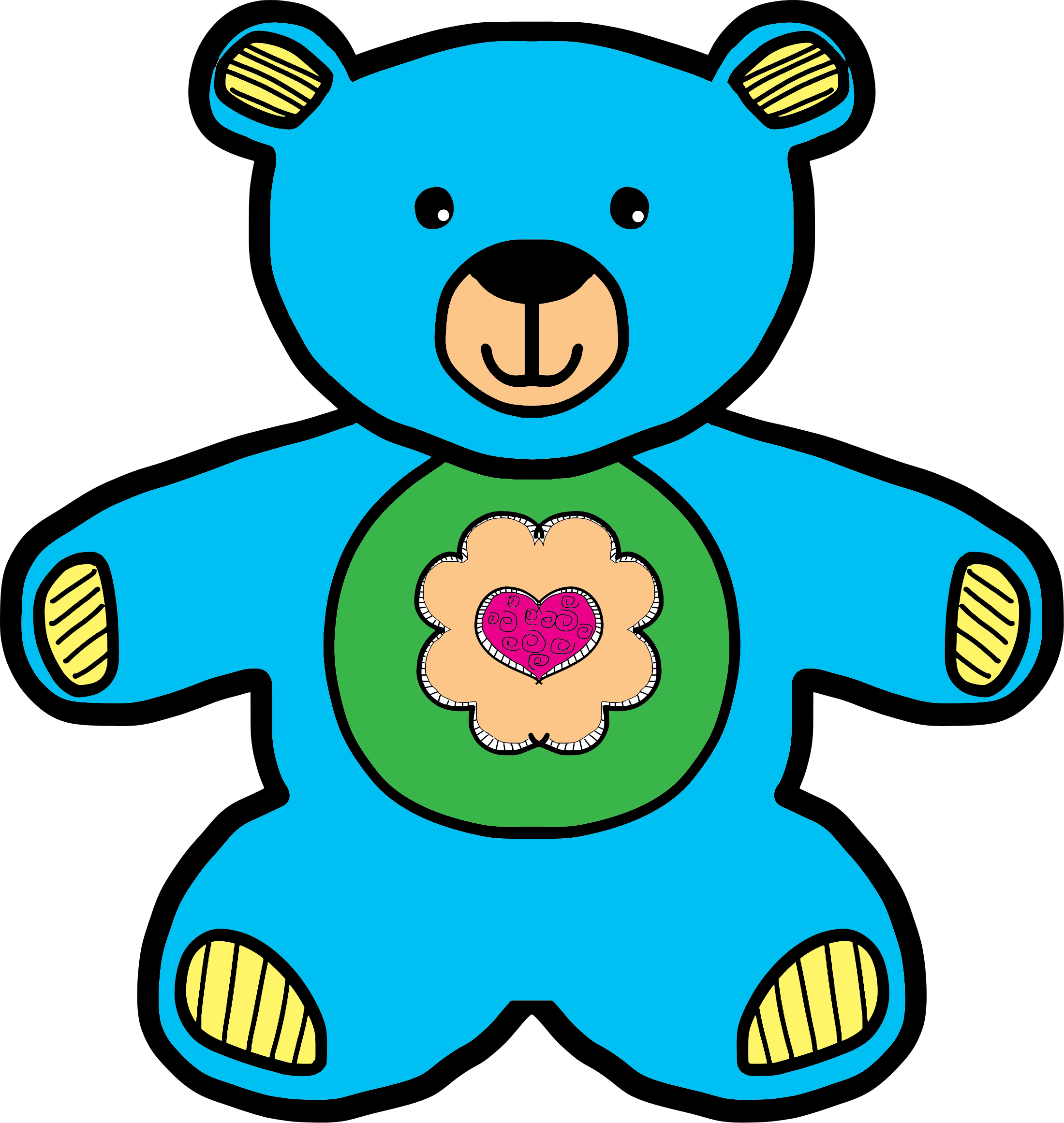 clip Teddy bear images clipart. Blue big image png