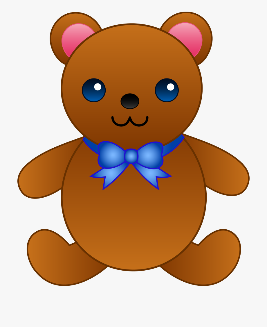 png free library Download with a bow. Teddy bear images clipart
