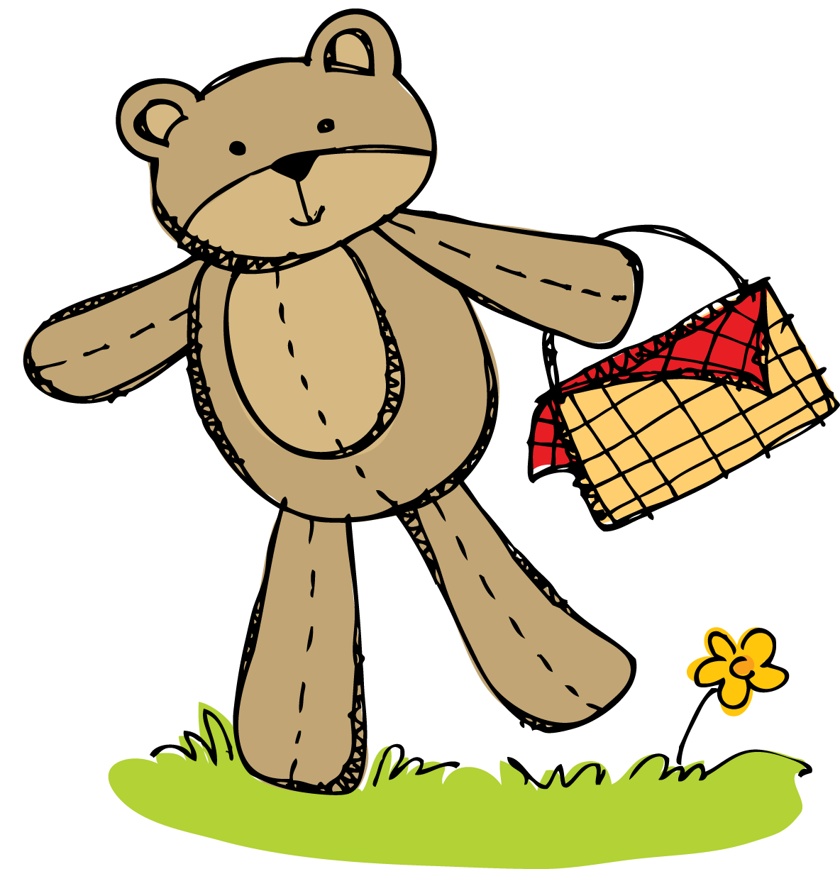 clipart free download Busy bees freebie invitation. Teddy bear picnic clipart
