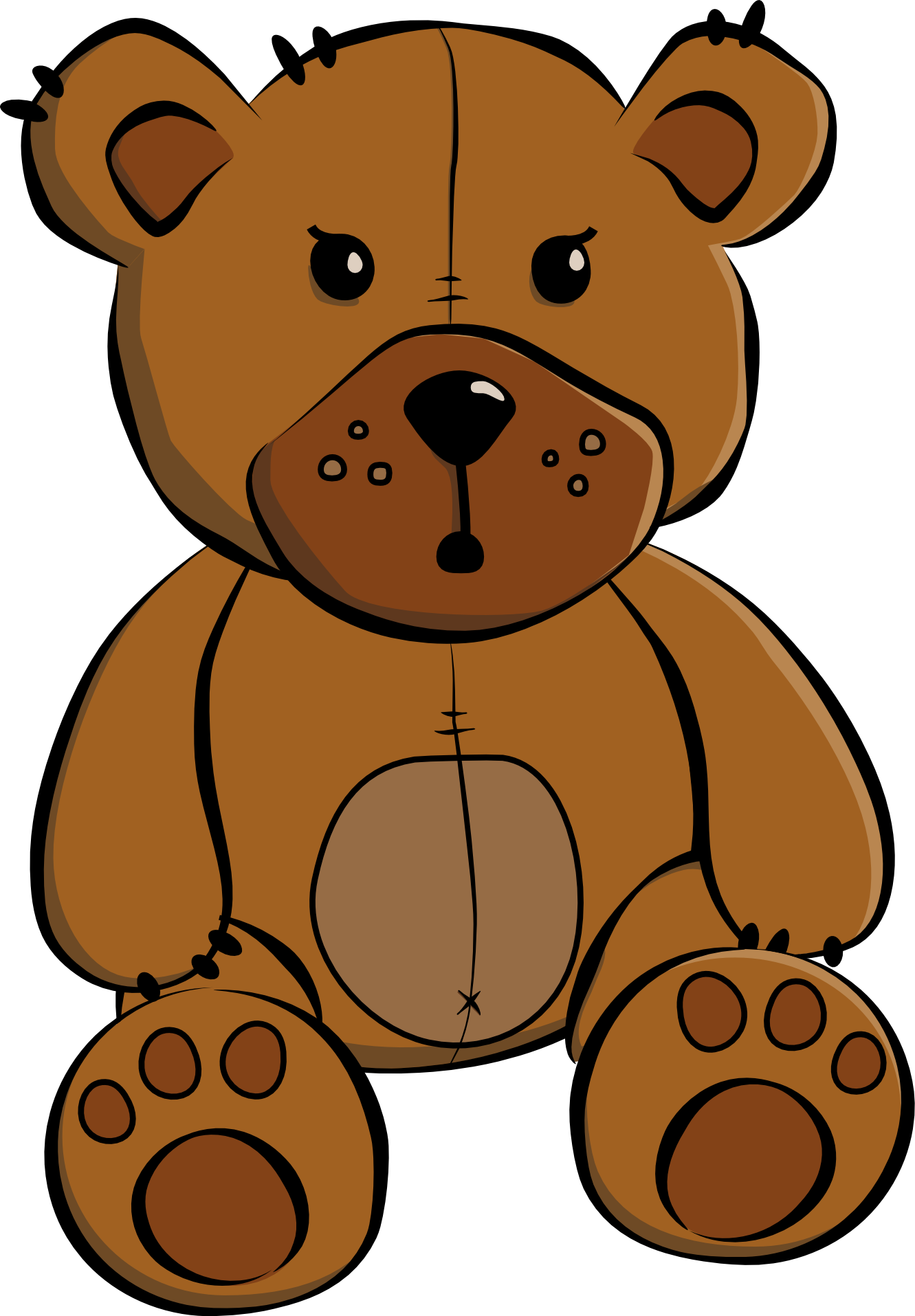 graphic Teddy clipart. Free bear x