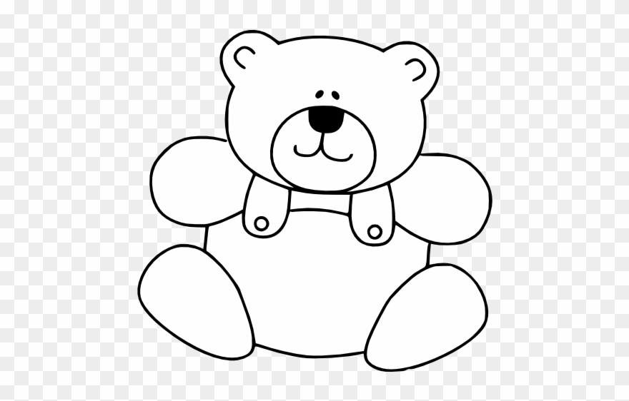 clipart transparent library Images bears . Teddy bear black and white clipart