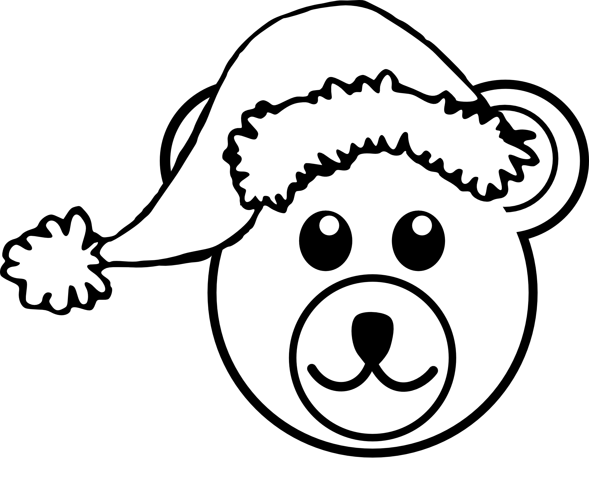 clip free Snowman face clipart black and white. Teddy bear panda free