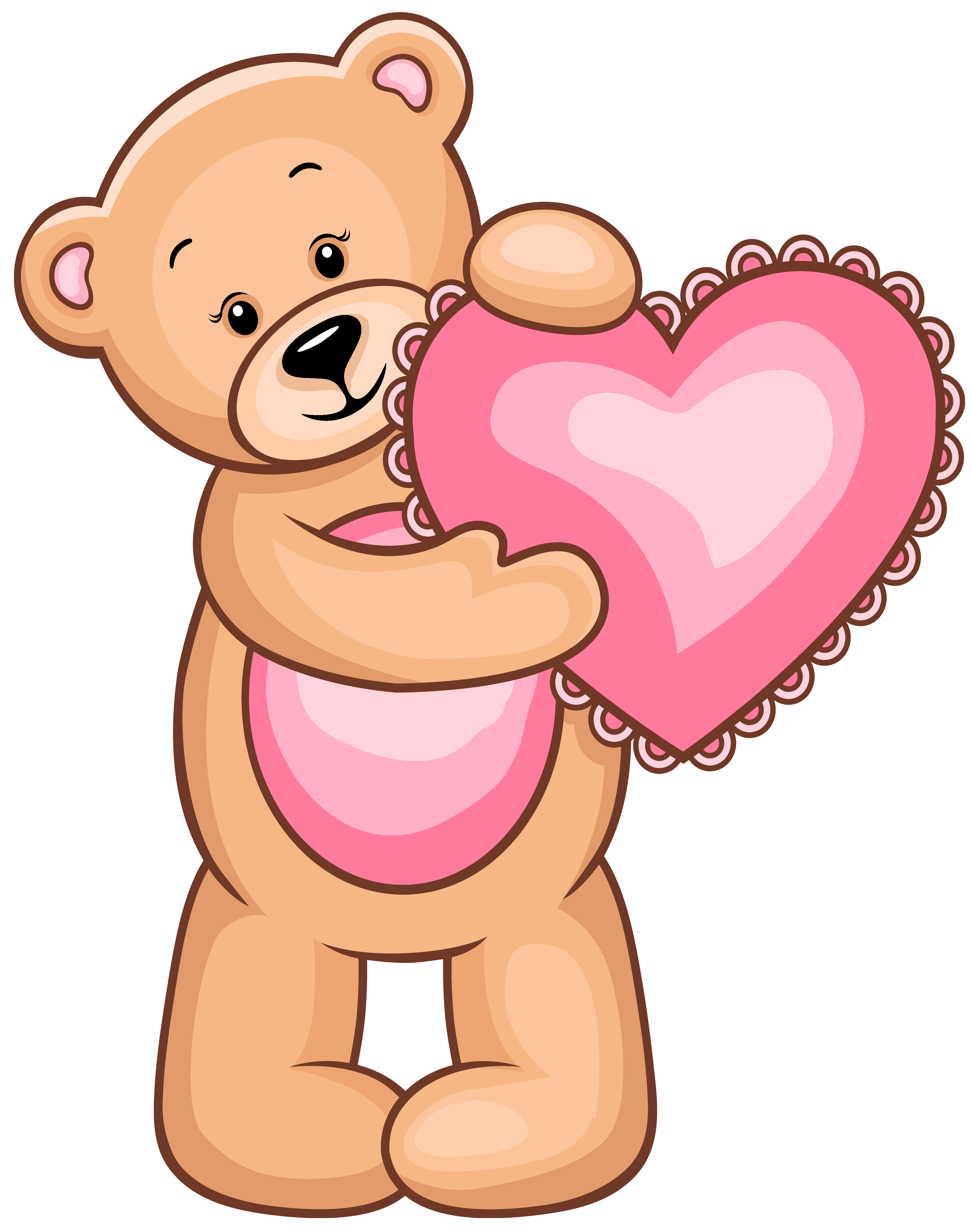 image transparent library Transparent with pink heart. Teddy bear clipart png