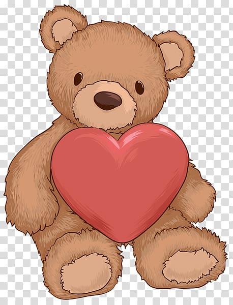 jpg stock Bear heart cuteness transparent. Teddy clipart preschool
