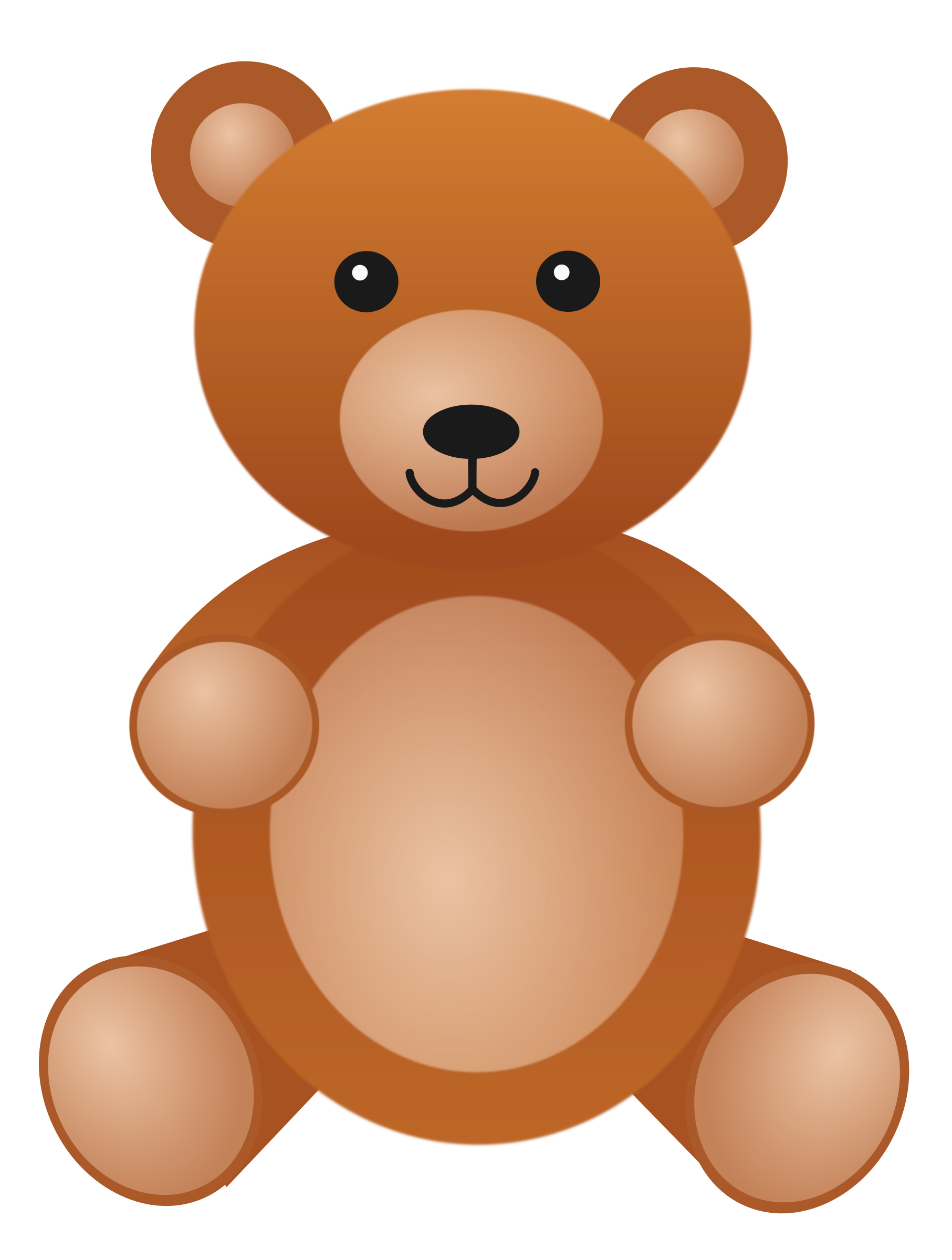 vector black and white stock Teddybear big image png. Cute teddy bear clipart