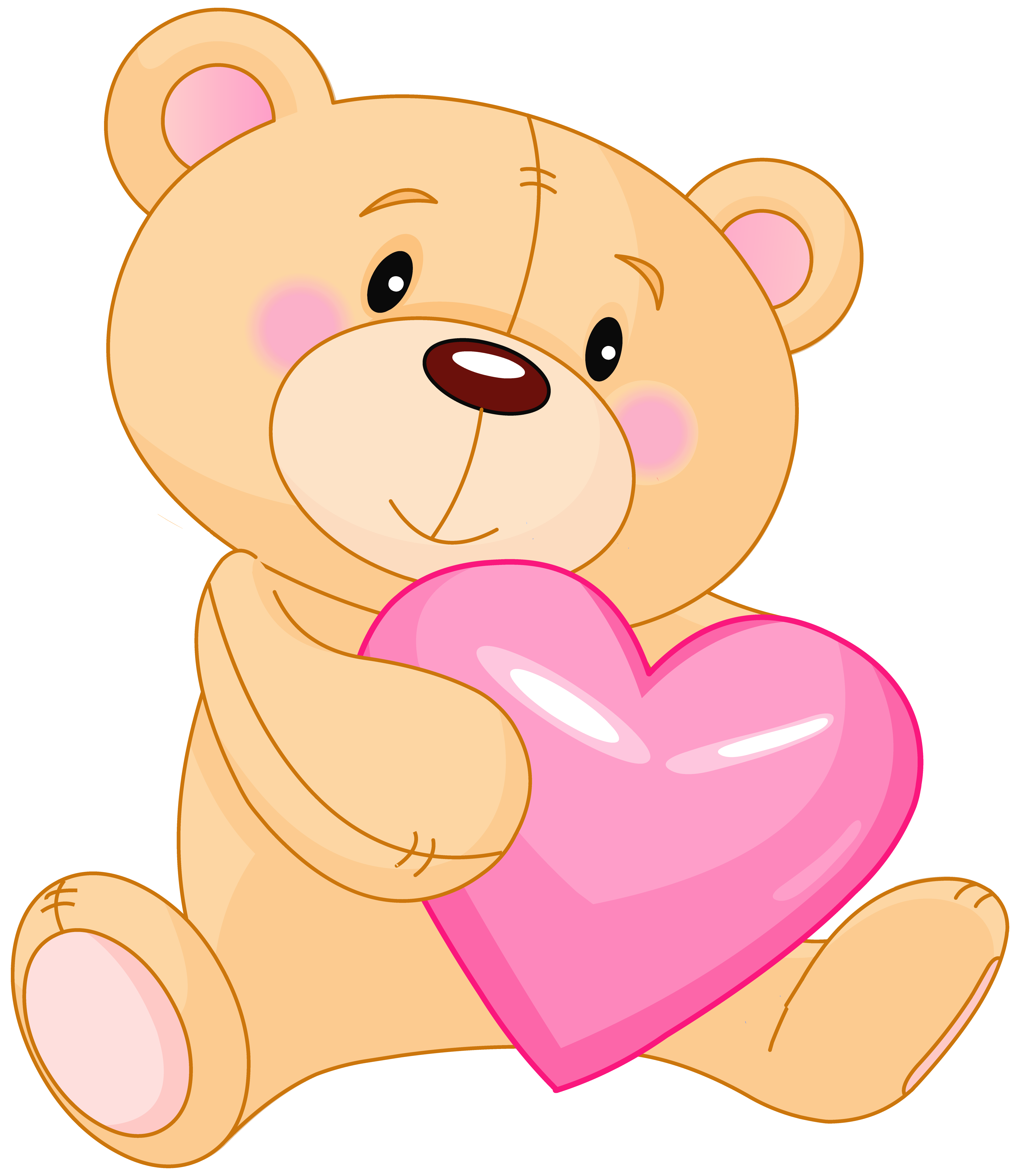 freeuse library Teddy with heart . Valentine bear clipart