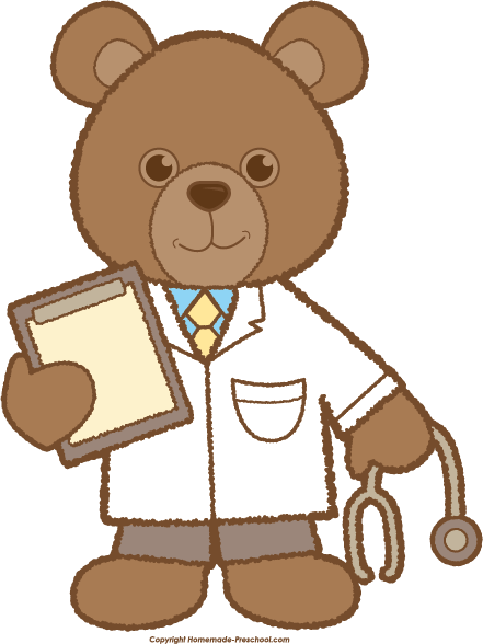 svg freeuse library Vector doctor teddy bear. Homeschool early learning pinterest
