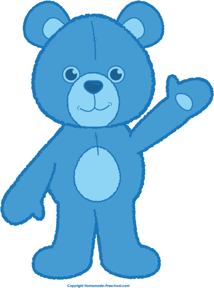 image transparent library Teddy waving blue clip. Bear clipart png