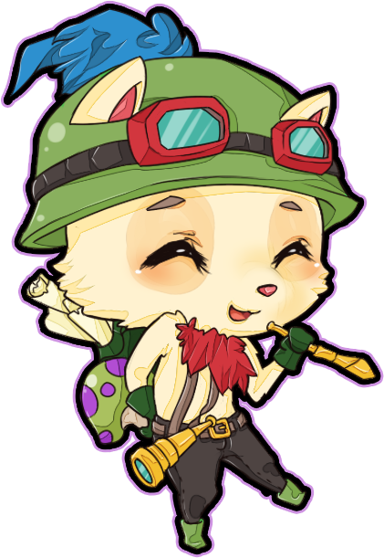 clip black and white library Captain Teemo on duty by pawnawn on DeviantArt